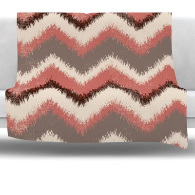 Fuzzy Chevron Fleece Throw Blanket Size: 60 L x 50 W