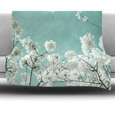 Flowering Season Fleece Throw Blanket Size: 80 L x 60 W