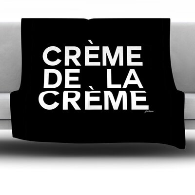 Creme De La Creme Fleece Throw Blanket Size: 40 L x 30 W