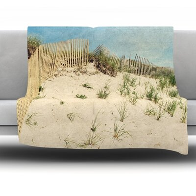 Cape Dunes Fleece Throw Blanket Size: 60 L x 50 W
