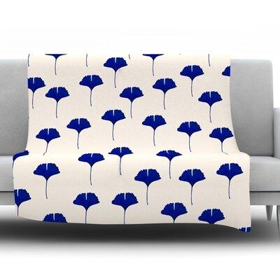 Leaf Pattern Fleece Throw Blanket Size: 80 L x 60 W