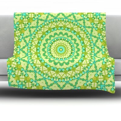 Aquatic Garden Fleece Throw Blanket Size: 40 L x 30 W