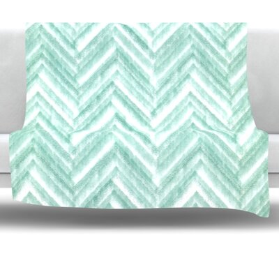 Painted Chevron Fleece Throw Blanket Size: 40 L x 30 W