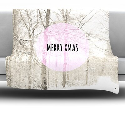 Merry Xmas Fleece Throw Blanket Size: 80 L x 60 W