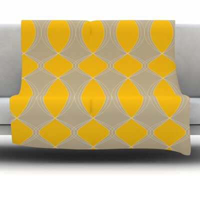Geometries Fleece Throw Blanket Size: 60 L x 50 W