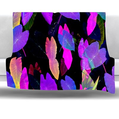 Fluo Jungle Fleece Throw Blanket Size: 40 L x 30 W