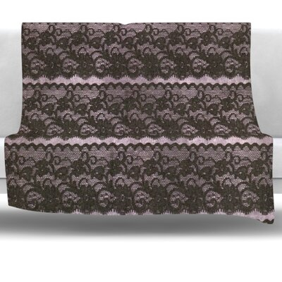 Lace Fleece Throw Blanket Size: 40 L x 30 W