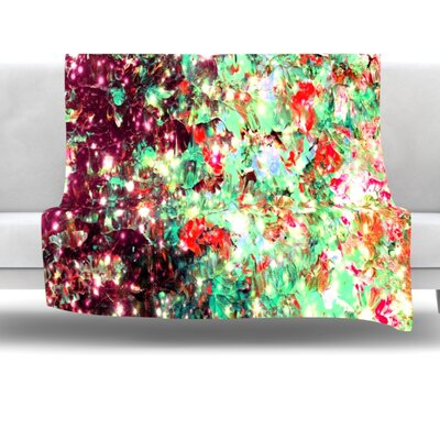 Mistletoe Nebula Fleece Throw Blanket Size: 40 L x 30 W