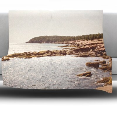 The Maine Coast Fleece Throw Blanket Size: 40 L x 30 W