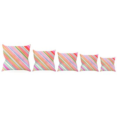 Pastel Stripes Throw Pillow Size: 20 H x 20 W x 4 D