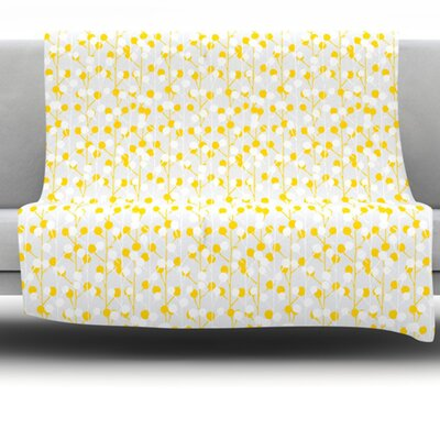 Lemon Drop Fleece Throw Blanket Size: 60 L x 50 W