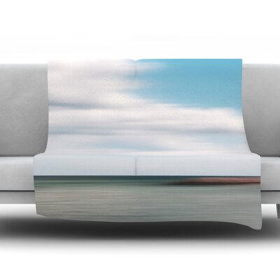 June Beach Fleece Throw Blanket Size: 40 L x 30 W