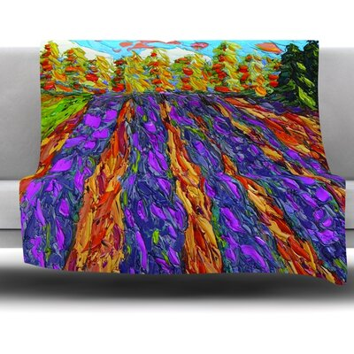 Flowers in the Field Fleece Throw Blanket Size: 60 L x 50 W