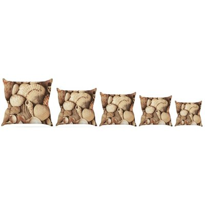 Shells Throw Pillow Size: 16'' H x 16'' W x 3