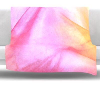 Pastel Haze Fleece Throw Blanket Size: 80 L x 60 W