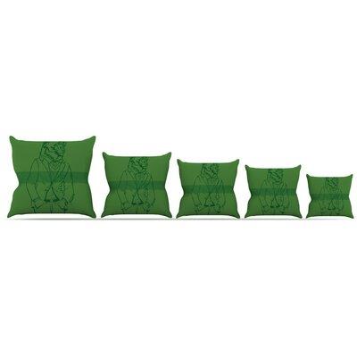 Dapper Bear Throw Pillow Size: 16 H x 16 W x 3 D