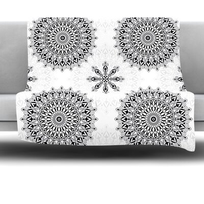 Mandala Fleece Throw Blanket Size: 40 L x 30 W