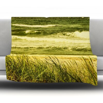 Dunes and Waves Fleece Throw Blanket Size: 90 L x 90 W