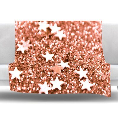 Copper Glaze Fleece Throw Blanket Size: 40 L x 30 W