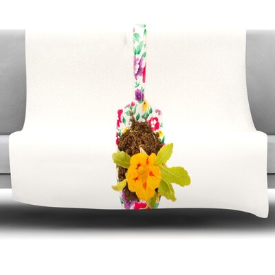The Gardener Fleece Throw Blanket Size: 60 L x 50 W