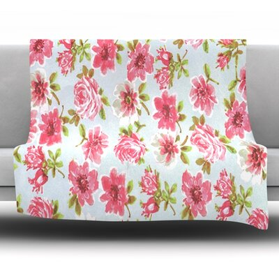 Petals Forever Fleece Throw Blanket Size: 60 L x 50 W