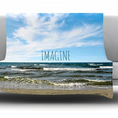 Imagine Fleece Throw Blanket Size: 40 L x 30 W