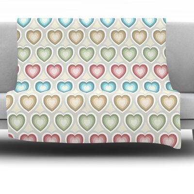 My Hearts Fleece Throw Blanket Size: 40 L x 30 W