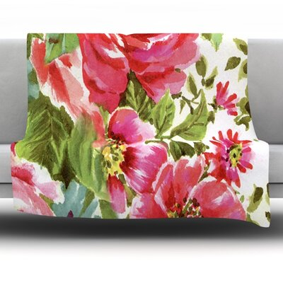 Walk Through The Garden Fleece Throw Blanket Size: 80 L x 60 W