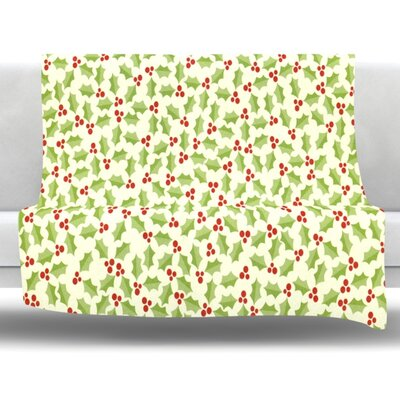 Oh Holly Night Fleece Throw Blanket Size: 80 L x 60 W