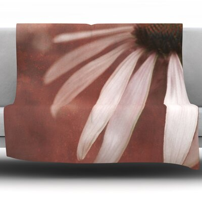 Copper and Pale Fleece Throw Blanket Size: 40