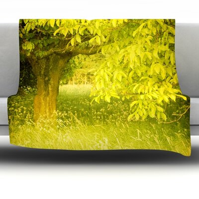 Summer Fleece Throw Blanket Size: 40