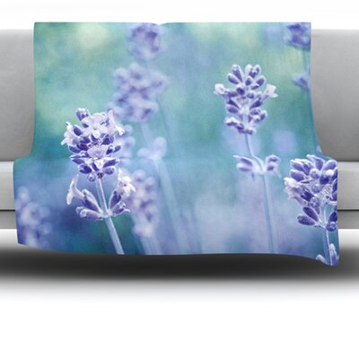 Lavender Dream Fleece Throw Blanket Size: 60 L x 50 W