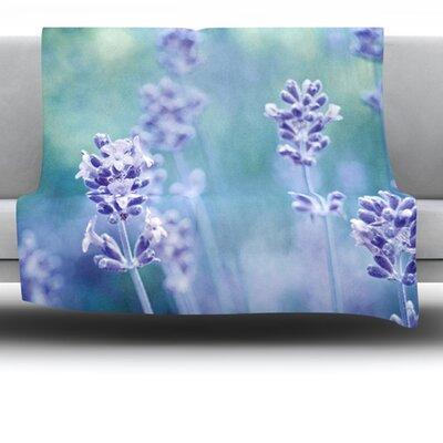 Lavender Dream Fleece Throw Blanket Size: 80 L x 60 W