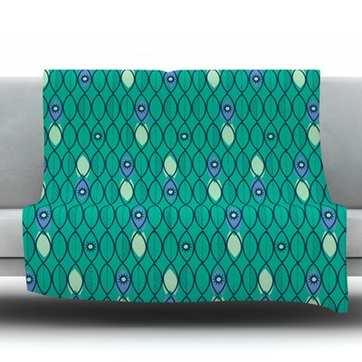 Suncoast Emerald by Allison Beilke Fleece Throw Blanket Size: 40 x 30