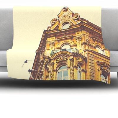 Prague Morning by Ann Barnes Fleece Throw Blanket Size: 80 x 60