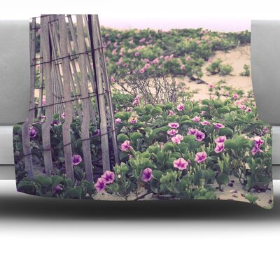 Morning At The Beach by Ann Barnes Fleece Throw Blanket Size: 40 L x 30 W
