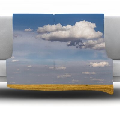 Big Sky by Ann Barnes Fleece Throw Blanket Size: 40 L x 30 W
