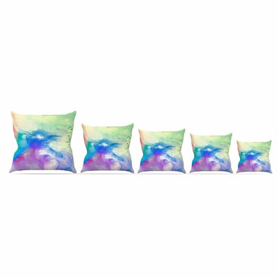 Rainbow Flow by Alison Coxon Throw Pillow Size: 16 x 16