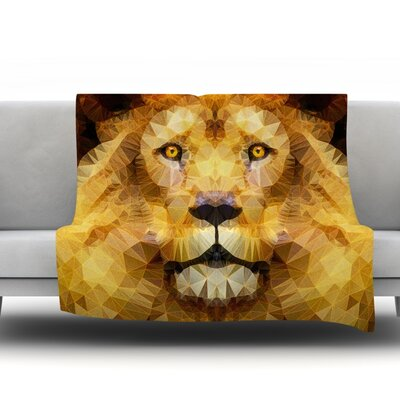 Lion King by Ancello Fleece Throw Blanket Size: 60 L x 50 W