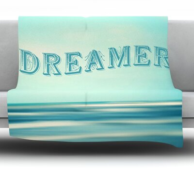 Dreamer by Ann Barnes Fleece Throw Blanket Size: 60 L x 50 W
