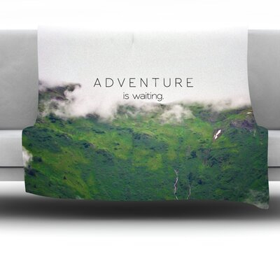 Adventure Is Waiting by Ann Barnes Fleece Throw Blanket Size: 60 L x 50 W