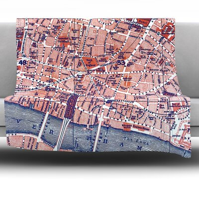 City Of London by Alison Coxon Fleece Throw Blanket Size: 60 x 50