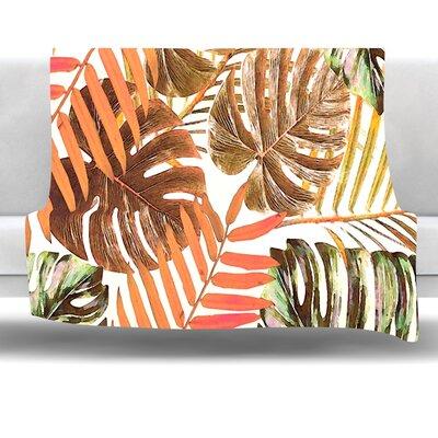 Jungle Rust by Alison Coxon 40 Fleece Throw Blanket Size: 40 L x 30 W