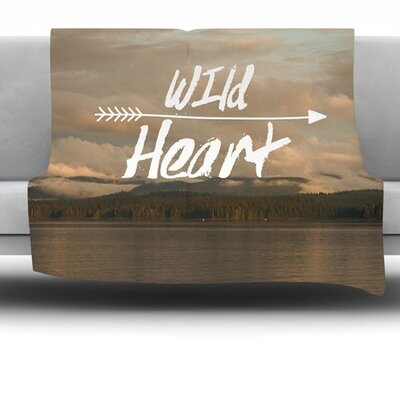 Wild Heart by Ann Barnes Fleece Throw Blanket Size: 60 L x 50 W