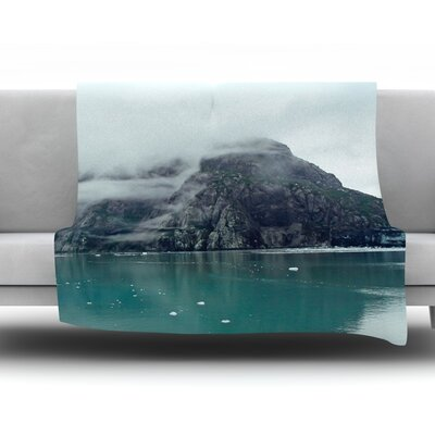 Into The Mist by Ann Barnes Fleece Throw Blanket Size: 40 L x 30 W