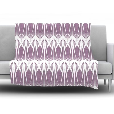 Arrow Lavender by Alison Coxon 40 Fleece Throw Blanket Size: 40 L x 30 W