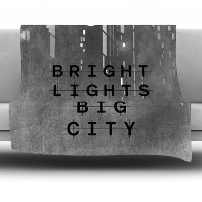 Bright Lights by Alison Coxon Fleece Throw Blanket Size: 80 x 60