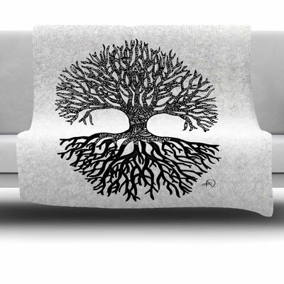 The Tree Of Life by Adriana De Leon Fleece Throw Blanket Size: 40 L x 30 W