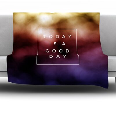 Good Day by Galaxy Eyes 40 Fleece Throw Blanket Size: 40 L x 30 W