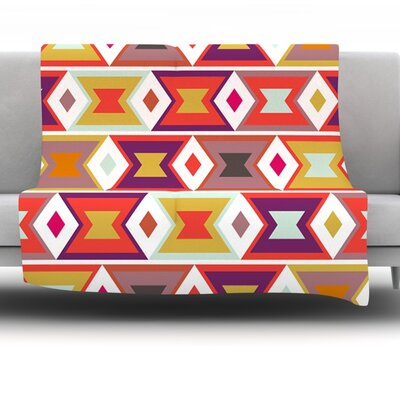 Aztec Weave by Pellerina Design 40 Fleece Throw Blanket Size: 60 x 50